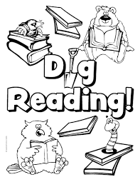 Children Reading Kids Coloring Page Throughout Pages Itgod Me