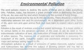 Essay Environment Pollution Environmental Pollution Essay Adamjee Coaching Centre Ssc