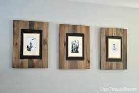an easy diy rustic wood picture frame