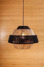 rustic lamp shade black pendant light