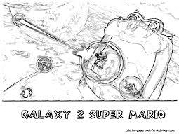 Super Mario Galaxy Coloring Page Free Download