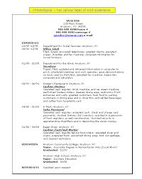 Define Chronological Resume Resume Ideas