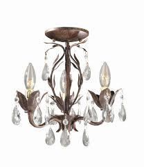 bijoux 3 light semi flush chandelier in weathered bronze finish wi8102362