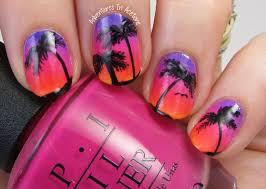 Island Nail Art Designs The Digit Al Dozen Does Nature Day 1 Island Sunset Nail