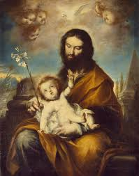 st joseph with the infant christ torres clemente de oil painting