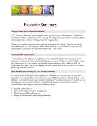 Best Executive Summary Executive Summary Sample For Proposal C24ualwork24org 6
