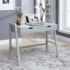 painted office furniture. Charles London-grey-painted-finished Pinewood 2-drawer Small Rectangular Office Desk Painted Furniture E
