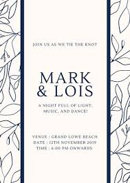date night invitation template customize 104 beach wedding invitation templates online canva