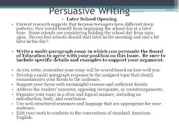 unit writing format persuasive writing ppt video online  persuasive writing later school opening