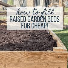 how to fill a raised garden bed and