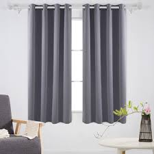 Amazon.com: Deconovo Solid Room Darkening Curtains Thermal Insulated  Blackout Curtains Grommet Blind Curtains for Living Room 52W x 63L Inch  Light Grey 1 ...