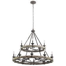 taulbee weathered zinc 15 light chandelier