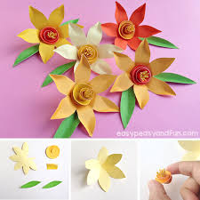 Daffodil Paper Flower Pattern How To Make Paper Daffodils Easy Peasy And Fun