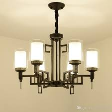 china glass cover led lamp wrought iron chandelier 8 10 heads living room bedroom hall hotel home lighing suspension g404 simple chandelier ship chandelier