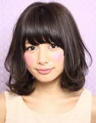 黒髪暗髪パーマミディアム髪型ke 109 ヘアカタログ髪型ヘア