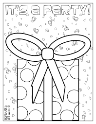 Coloring Pages Printable Birthday Card Free Happy Coloring Pages