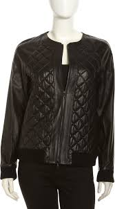 Quilted Leather Studded Bomber Jacket | Quilted leather, Black ... & Black Quilted Leather Bomber Jacket by Robert Rodriguez. Buy for $619 from  Last Call by Adamdwight.com