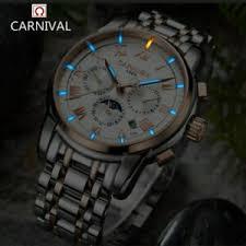 <b>Carnival watch men Switzerland</b> luxury brand moon phase Tritium ...
