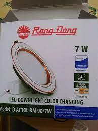 Đèn Led âm trần Rạng Đông 7w 3 chế độ màu giá sỉ - giá bán buôn