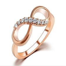 infinity ring gold. infinity ring rose gold plated rings for women love austrian crystal zircon swarovski elements fine jewelry s