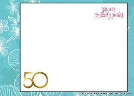 50th birthday invitation sayings