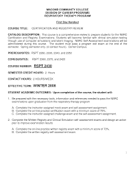 Awesome Collection Of Certified Respiratory Therapist Cover Letter