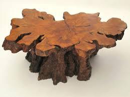 burl wood coffee table creative of slab