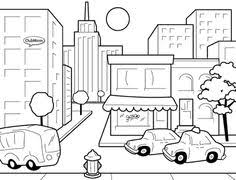 Small Picture City Streets Coloring Pages AMERICANA Pinterest Coloring