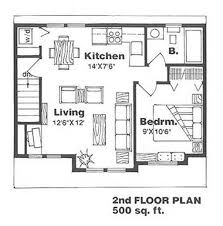 image of single bedroom house plans 500 square feet