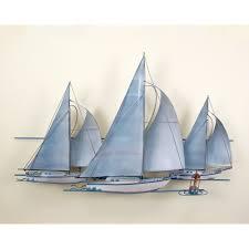 at the races three sail boats race wall art wall hanging sea shell rehoboth beach delaware