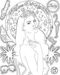 Coloriage Lana Del Rey Ultraviolence I Coloriage Coloriagel