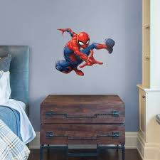 spider man webslinger large officially licensed marvel removable wall decal fathead