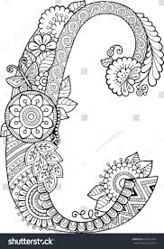 Coloring Book For Adults Floral Doodle