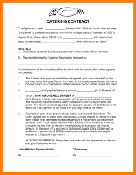 Catering Services Agreement Form Contract Sample Free Doc Template