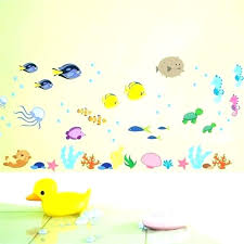 wall decals fish sea under decorations underwater for kids rooms bathroom vinyl