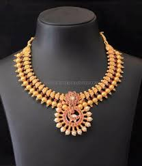 Antique Gold Jewellery Necklace Designs South Indian Antique Gold Jewellery Design South India Jewels