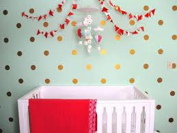 Image of: Polka Dot Wall Decals Nursery