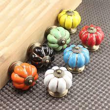 cheap furniture knobs. 15pcs Pumpkin Ceramic Knob For Kids Children Kitchen Door Cabinets Cupboard Cheap Furniture Knobs W