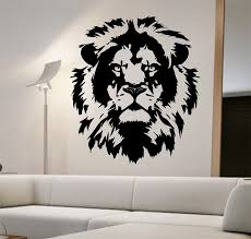 Small Picture Lion Wall Decal Lion Face Vinyl design Sticker Art Decor Bedroom