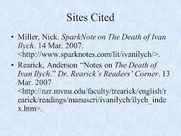 the death of ivan ilyich ppt  sparknote on the death of ivan ilych 14 mar