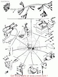 yamaha rd350 1973 usa electrical schematic partsfiche electrical schematic