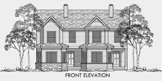 2 story house plans for a view new house plans with rear view surprising 10 duplex