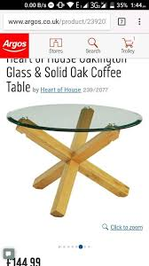 brand new oakington contemporary solid oak glass coffee table rrp 144 99 image 1 of 3