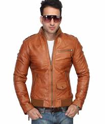 bareskin new slim fit tan 100 leather jacket bareskin new slim fit tan 100 leather jacket at best s in india on snapdeal