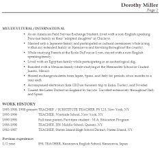 Sample Resume For English Teachers Musiccityspiritsandcocktail Com