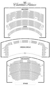 Cadillac Palace Theatre Seating Chart Chicago Theater