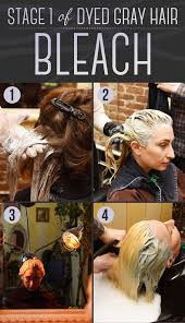 to dye your hair gray