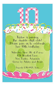 invitations to birthday party girl tenth birthday invitation kids birthday invitations