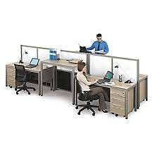Small office cubicles Bank Teller At Work Four Person Station With Dividers 8808082 Cubicles Office Furniture Sales Design And Installations Modular Workstations Cubicle Desks Officefurniturecom