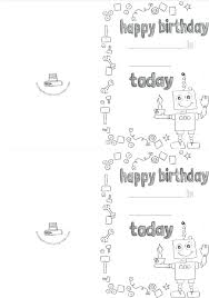 black and white birthday cards printable cupcake robot outline birthday card printable cupcake robot happy